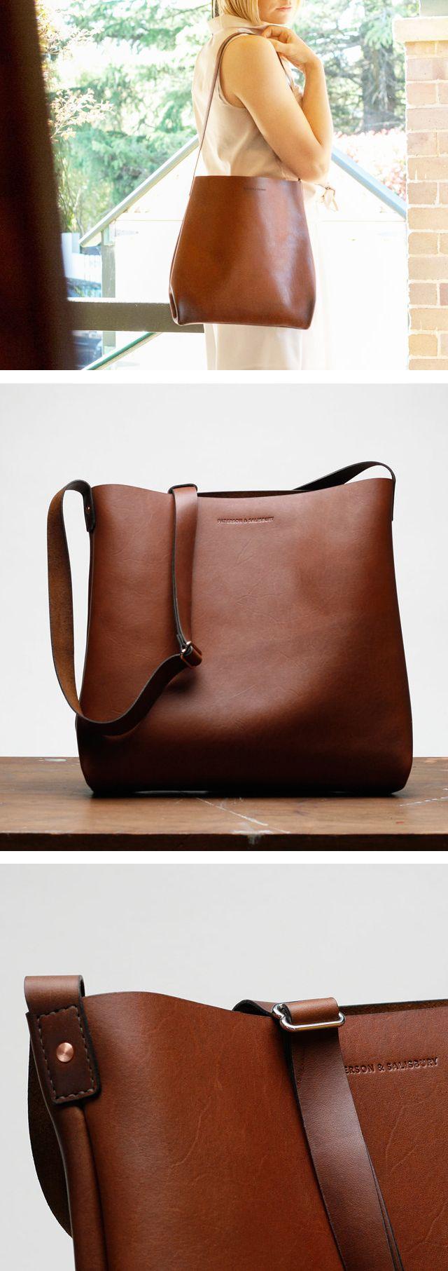 Australian Leather Tote Bag Small Shoulder Bag Crossbody Cross Body Satchel Brown Laptop Macbook Tote Bag Leather Shoulder Bag Women Leather Tote Bag