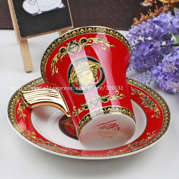 Ufingo-European Royal Bone China Mug Tea Cup Coffee Cup And Saucer(China (Mainland))