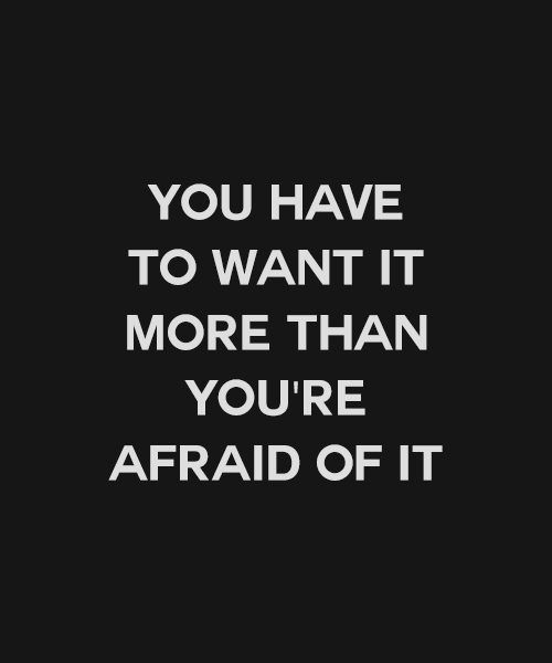 """""""Você precisa querer isso mais do que tem medo disso"""" #frases #pensamentos #reflexões"""