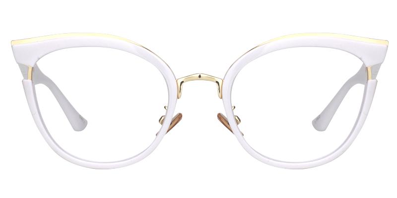 c2602fcc48b25 Retro White Cat Eye Glasses. Retro White Cat Eye Glasses Order Glasses  Online