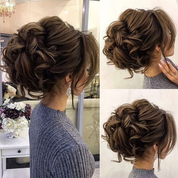 Wedding Hairstyle Upstyle: Drop-dead Gorgeous Loose Messy Updo Wedding Hairstyle For
