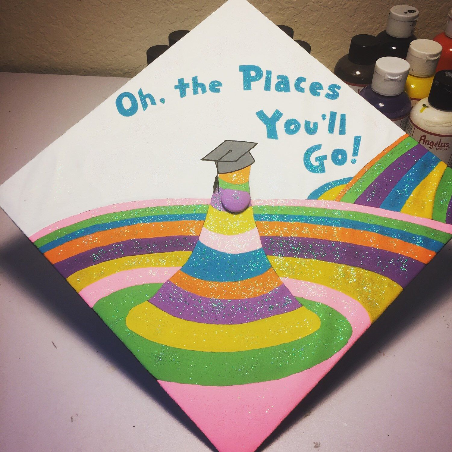 A Fun Dr Seuss Themed Grad Cap