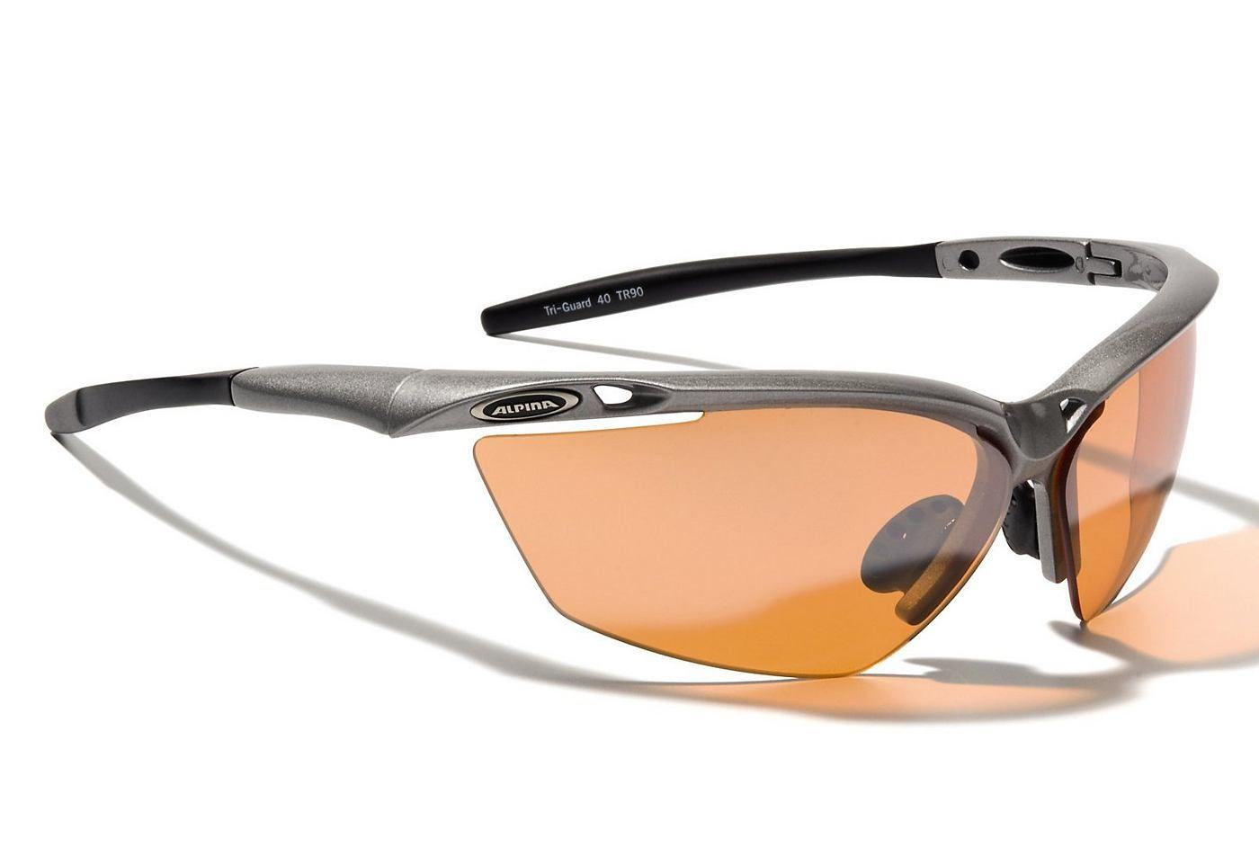 Preis am billigsten billig werden Sportbrille, zinn-schwarz, Alpina, »Tri-Guard 50« Sehr ...