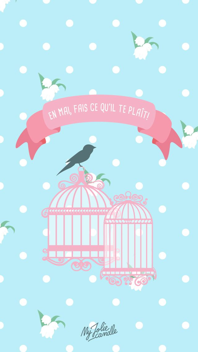 baby blue pink birdcage iphone wallpaper lock screen