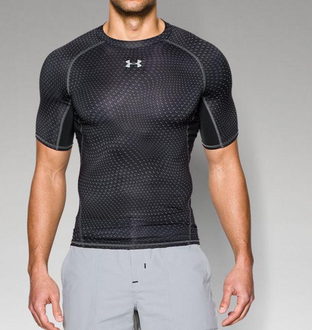 854784fae8fd3 Men s UA HeatGear® Armour Printed Short Sleeve Compression Shirt ...