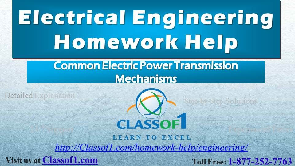 Common Electric Power Transmission Mechanisms Read the full article - electrical engineering excel spreadsheets