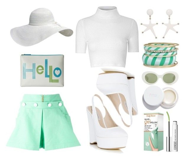 """""""Some Mint"""" by emcf3548 ❤ liked on Polyvore featuring Kenzo, Glamorous, STELLA McCARTNEY, Jonathan Adler, Marni, Acne Studios, rms beauty, Sally Hansen and Clinique"""