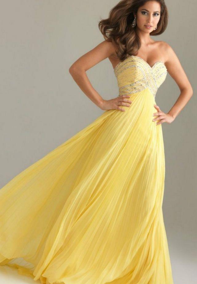 yellow wedding dresses photo   Yallow   Pinterest   Yellow wedding ...