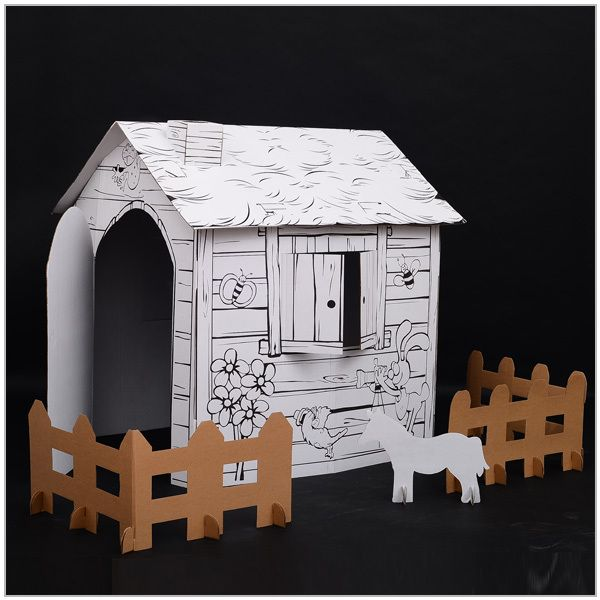Chirstmas Diy Paper house models,paper house