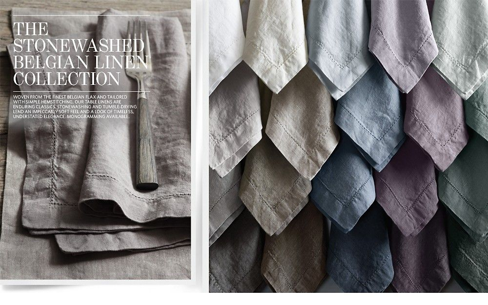 the stonewashed belgian linen collection by restoration hardware