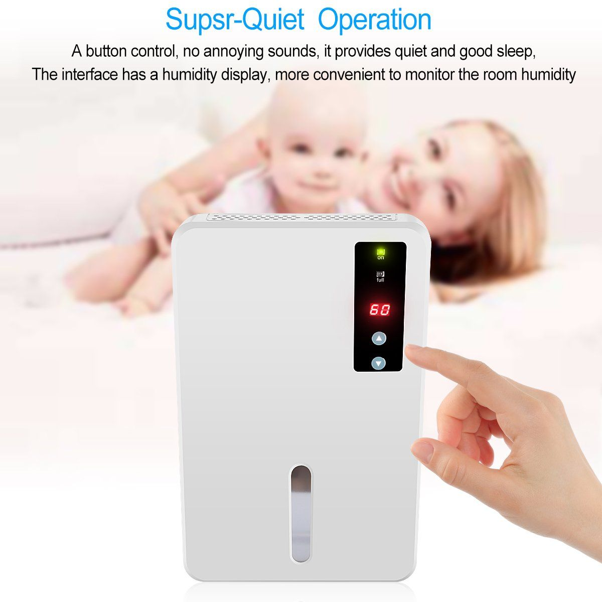 ANTRobut Smart Dehumidifier with Touch Panel Control and a