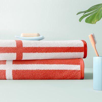 Hashtag Home Wesley Reversible 2 Piece 100 Cotton Bath Sheet Set
