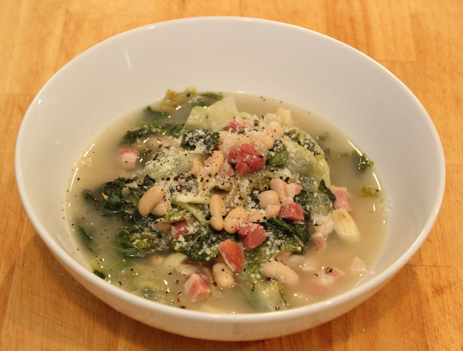 Escarole With Beans And Pancetta Minus The For Me Pls Italian Soup