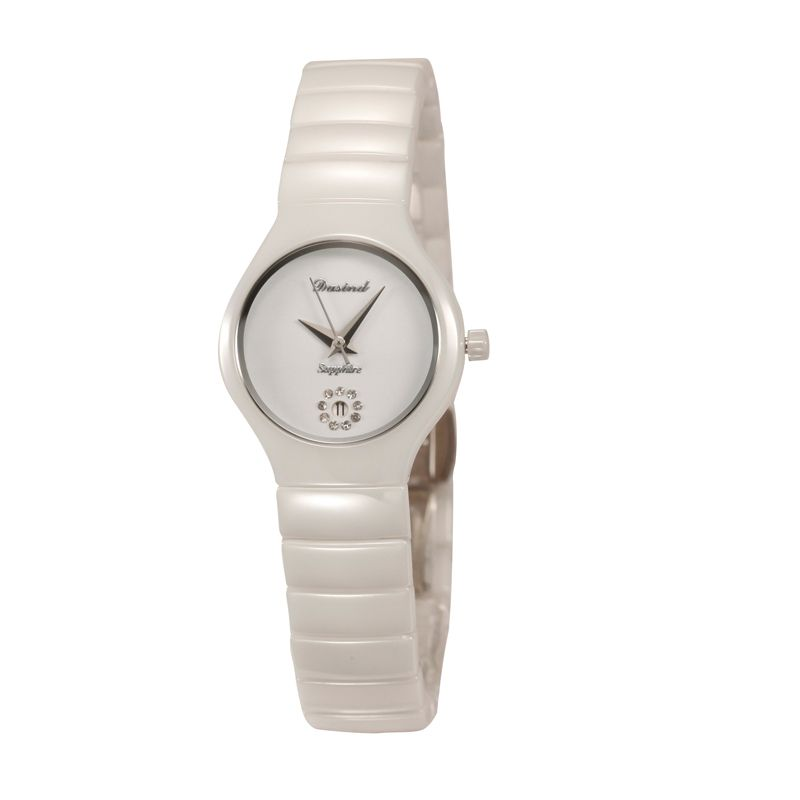 One-way street fashion Crystal white ceramic watches, Calvin Klein fashion table table students genuine female watches