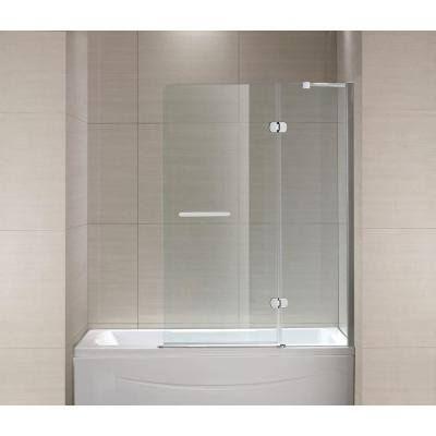 Schon Mia 40 In X 55 In Frameless Hinge Tub Shower Door In