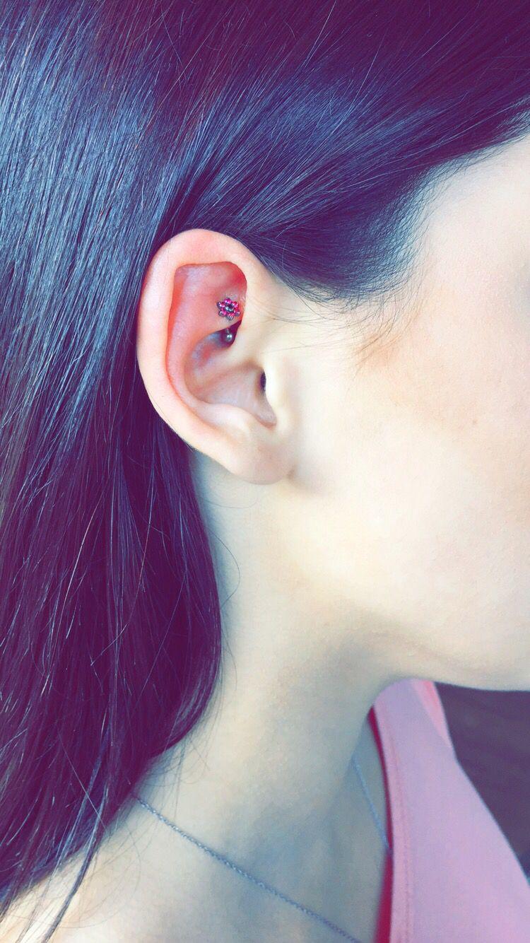 Body piercing needle  My rook piercing  Rook Piercing  Pinterest  Rook piercing