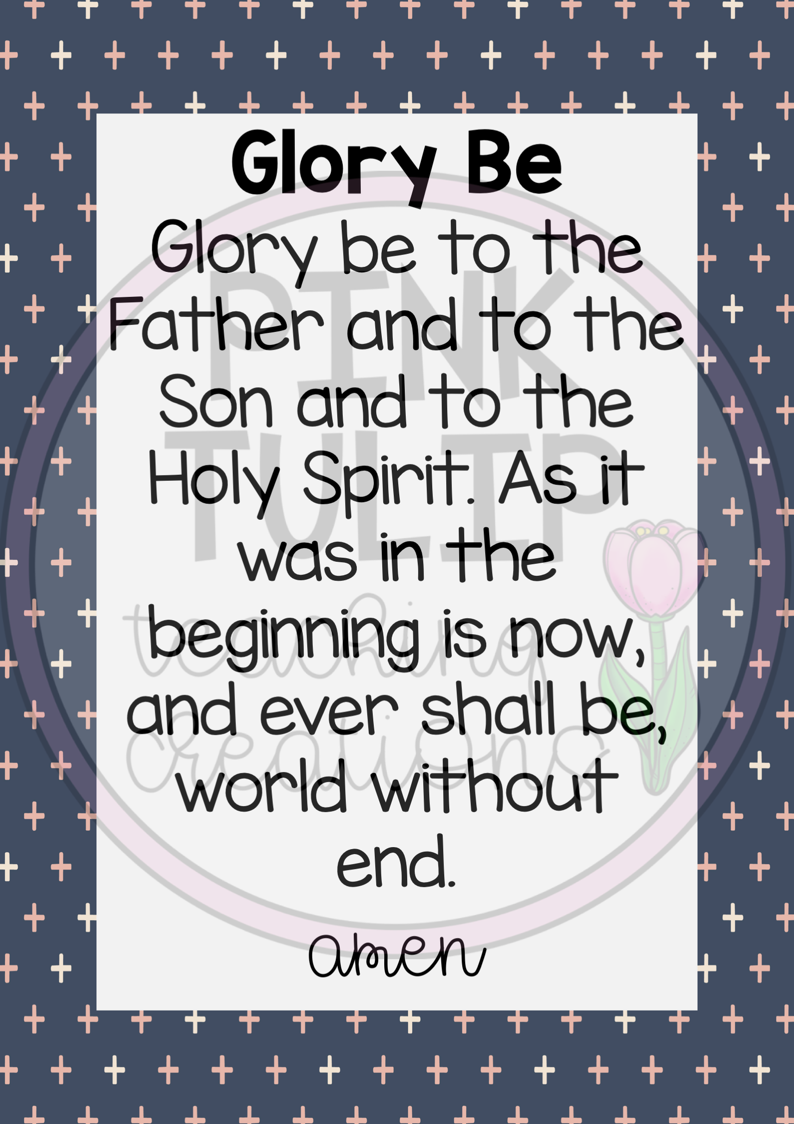 This Pack Of Prayers Includes Our Father Glory Be Acts