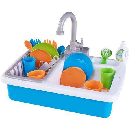 Spark Create Imagine Kitchen Sink Play Set Designed For Ages 3 Walmart Com In 2021 Playset Kitchen Sink Sink