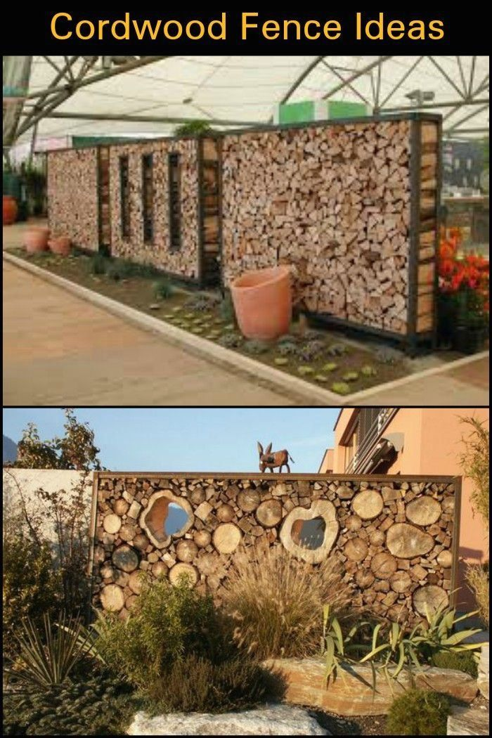 Add privacy to your yard by building a beautiful cordwood ...