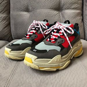 Brand New US Men Size 44 Balenciaga Triple S Trainer Sneakers in Red Blue  review 7e318494d0