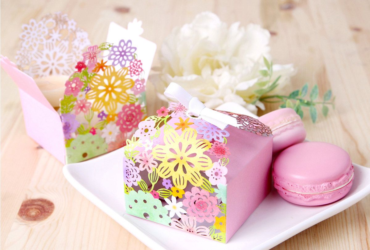Favor box ideas/ gift box ideas/10 mini floral cut out favor boxes ...