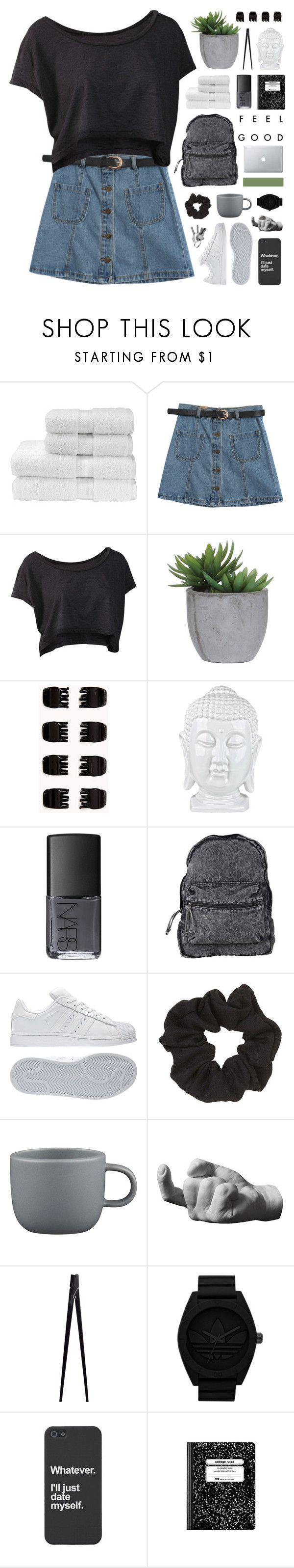 """""""THE FEELING"""" by hhuricane ❤ liked on Polyvore featuring Christy, Chicnova Fashion, Lux-Art Silks, Forever 21, NARS Cosmetics, Agent Ninetynine, adidas, Topshop, CB2 and Harry Allen"""