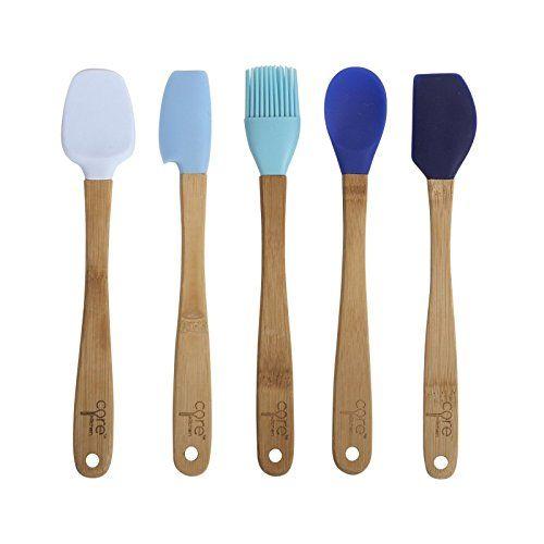 Core Kitchen 8 25 5pc Silicone Mini Utensil Set With Bam Silicone Kitchen Utensils Utensil Set Cooking Utensils