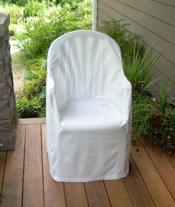 Hemp Cotton Slipcover For Outdoor Plastic Chair Cadeira De
