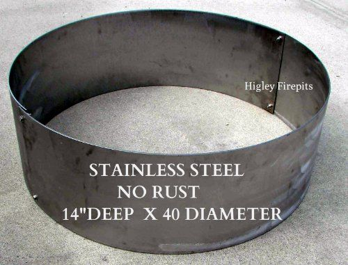 40 Stainless Steel Fire Pit Ring Liner Built Usa Minnesota Built Stainless Steel Fire Pits Http Stainless Steel Fire Pit Steel Fire Pit Ring Steel Fire Pit