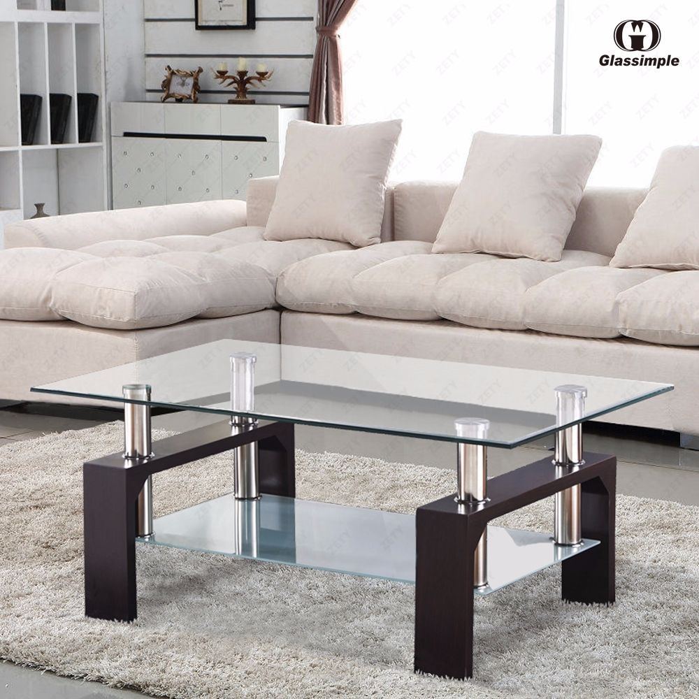 Rectangular Glass Coffee Table Shelf Chrome Walnut Wood Living. Furnitures For Small Living Room. Beautiful Small Living Room Inspiration with Cute Cushions On. Images Of Furniture Arrangements On Area Rugs Living Room
