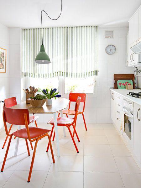 Comedores en la cocina para todos los d as pinterest for Sillas de cocina rojas