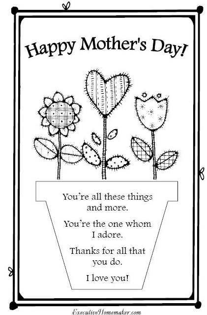 Printable Mother S Day Card Mothers Day Card Template Mothers Day Poems Mother S Day Activities