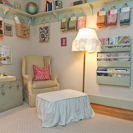 Craft Room - I like the shelf!