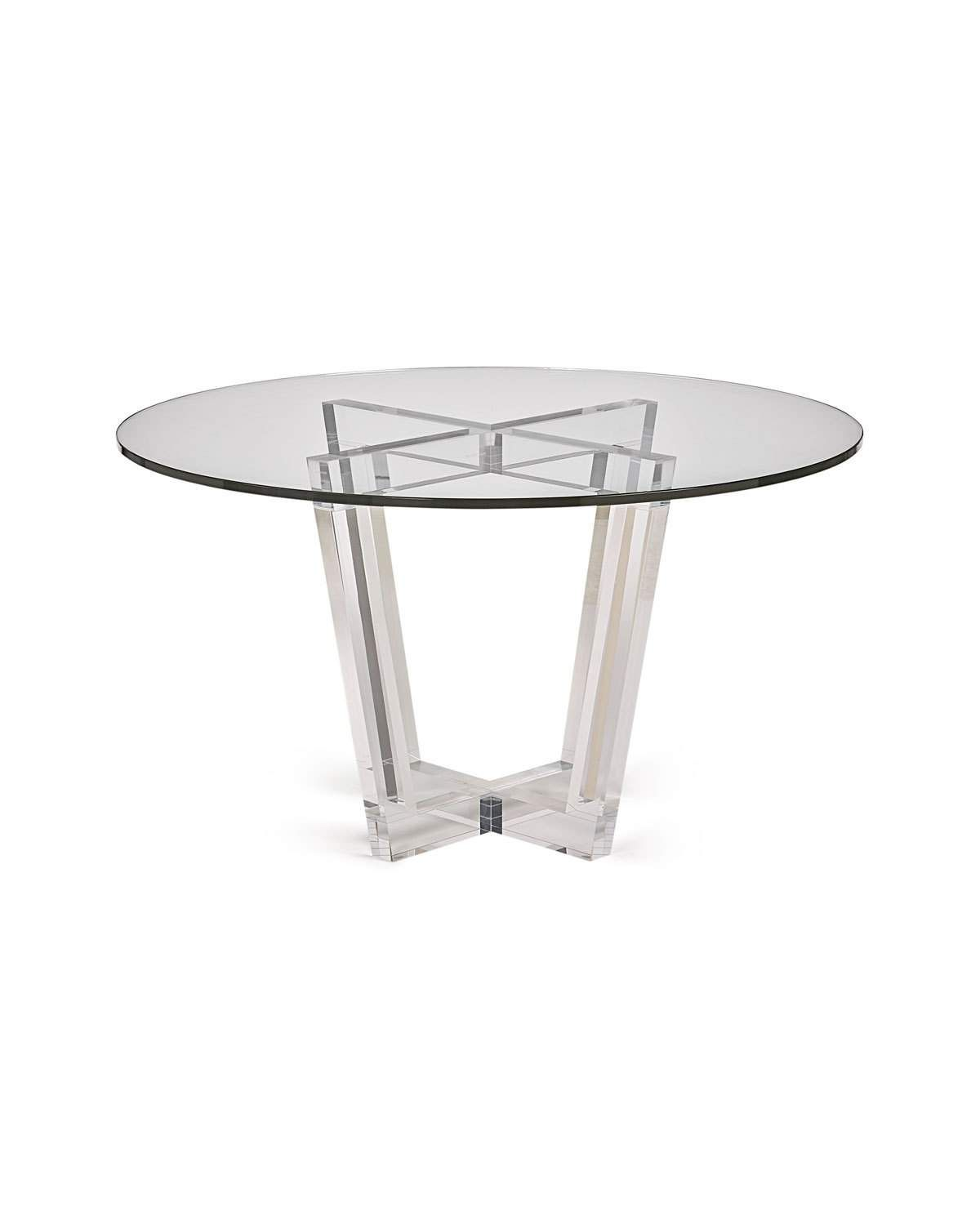 Interlude Home Lovey Acrylic Round Dining Table Round Dining