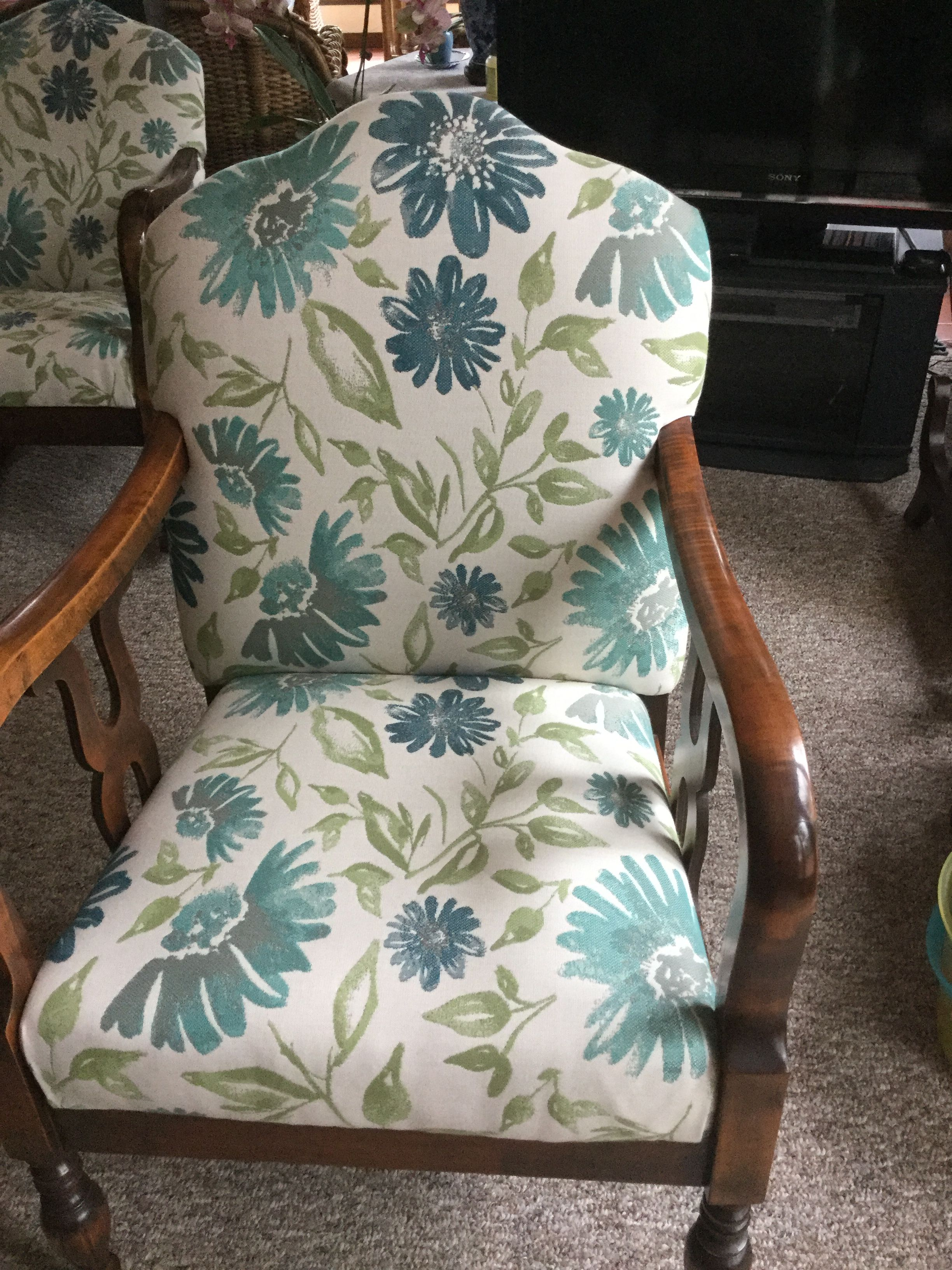 Custom Chair Cushion Sunbrella 45760 0002 Violetta Baltic 54 In Indoor Outdoor Upholstery