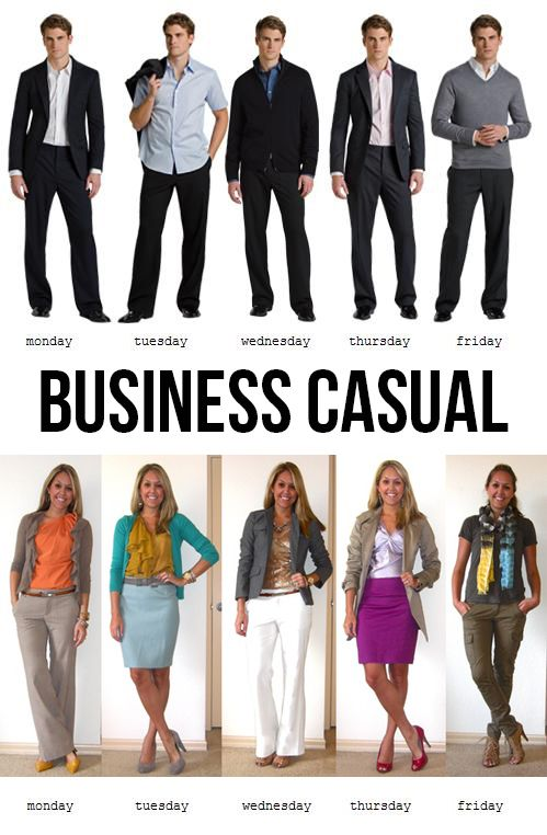 Business Casual Attire 5 Days A Week