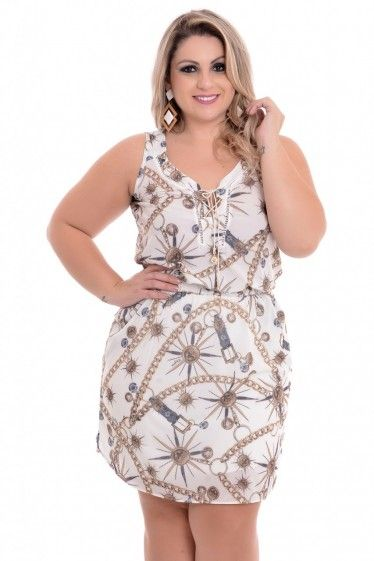092b864779 Vestido Plus Size Golden Dream