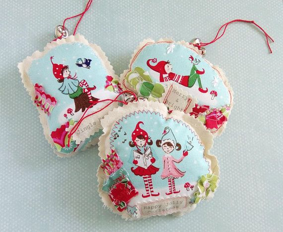 handmade christmas elf hanging ornament fabric christmas decorations elf ornaments kitchy decorations - Christmas Decorations Pinterest Handmade