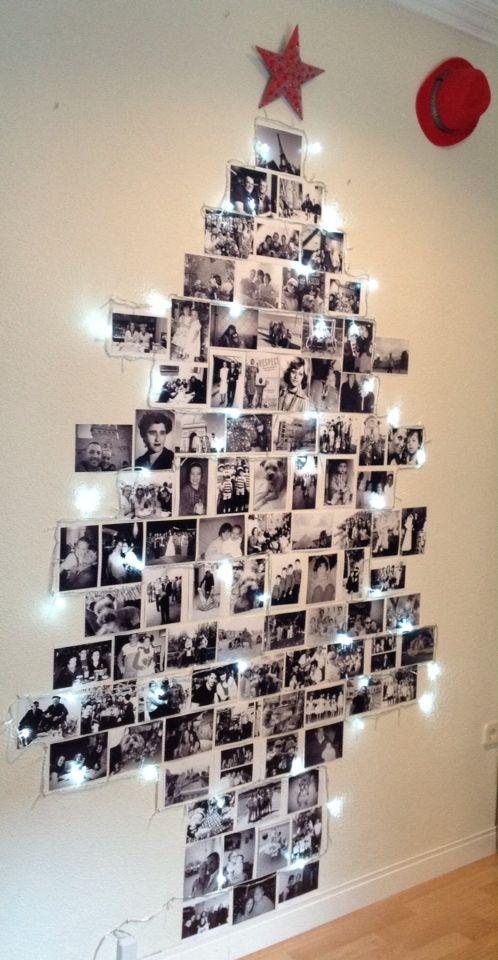 Nuestro arbol de navidad familiar navidad pinterest for Decoracion navidena original