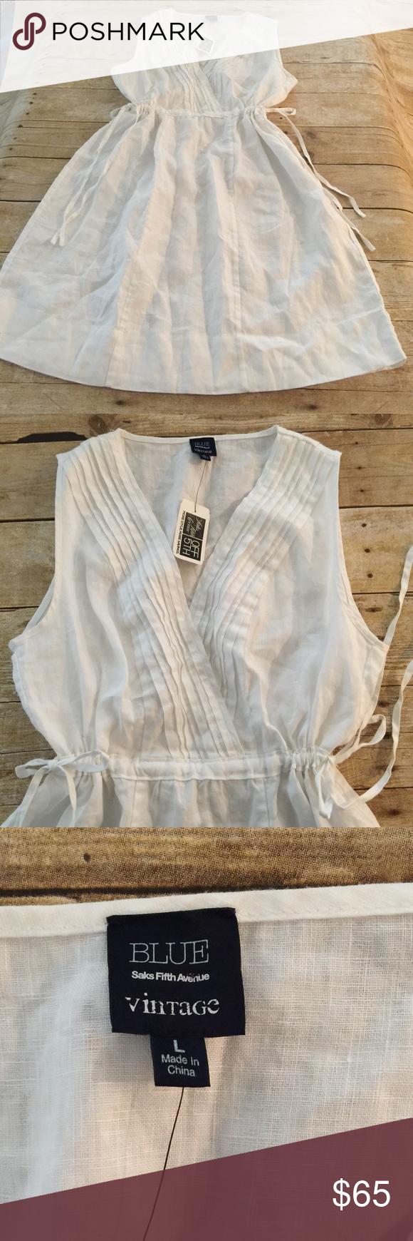 Linen Dress NWT Saks Linen Dress Saks Fifth Avenue Dresses
