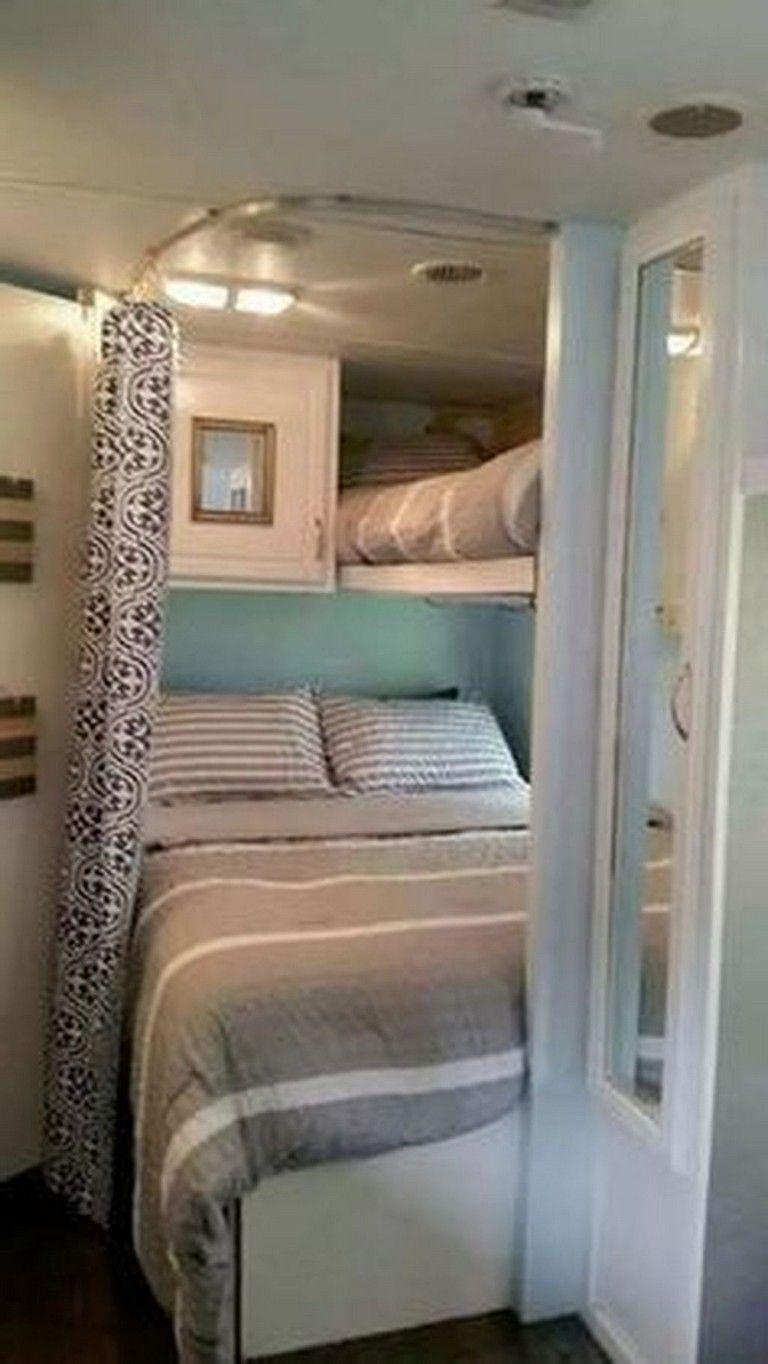 34 Top Rv Bedroom Design Ideas Remodeled Campers Camper Living Rv Hacks