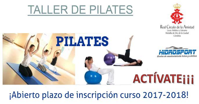 Taller De Pilates Para Socios Pilates Cursillo Socios