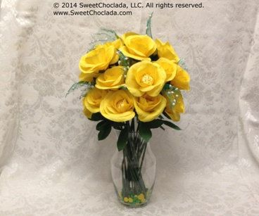 Wedding Flower Arrangement Bouquet of Roses in by SweetChoclada, $149.99