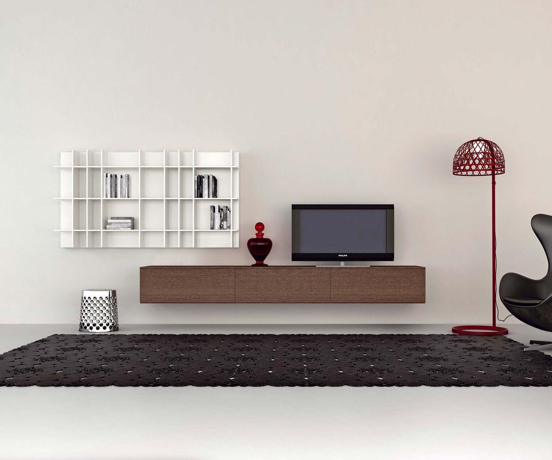 Lowboard hängend holz  Novamobili hängendes TV Lowboard B 270 cm | Tv wand lowboard, TV ...
