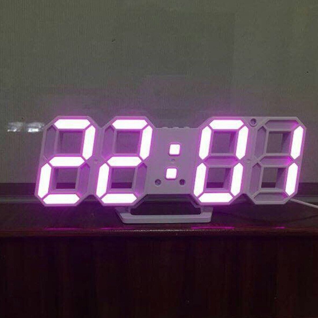 Pop Modern Wall Clock Digital Led Table Clock Watches 24 Or 12