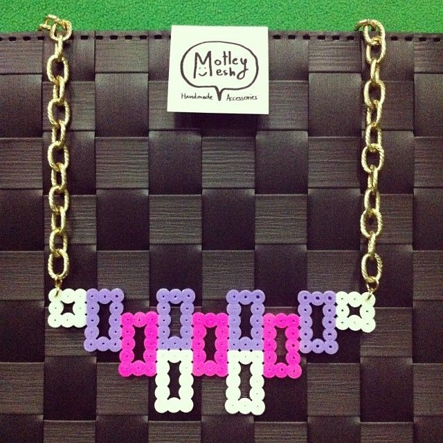 Necklace hama perler beads by Motley Mesh