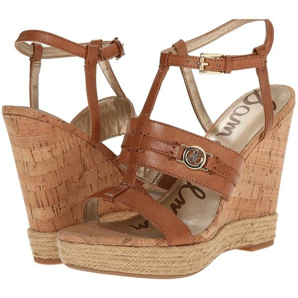 Sam Edelman Karley Women's Wedge Shoes, Brown (£56) ❤ liked on Polyvore
