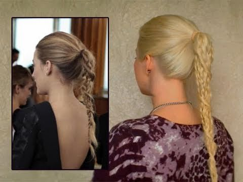 Serena Van Der Woodsen High Ponytail With A Braidtwist Hair Styles Easy Hairstyles Braided Ponytail