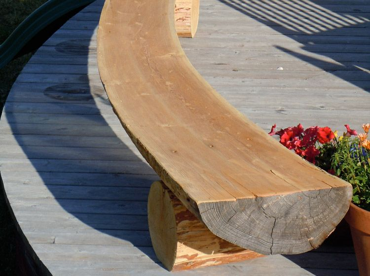Curved Bench Half Log Bench Log Bench Curved Bench