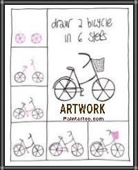 رسومات اطفال فنية سهلة وبسيطة رسم وتلوين دراجة اطفال Easy Drawings Car Drawings Drawings